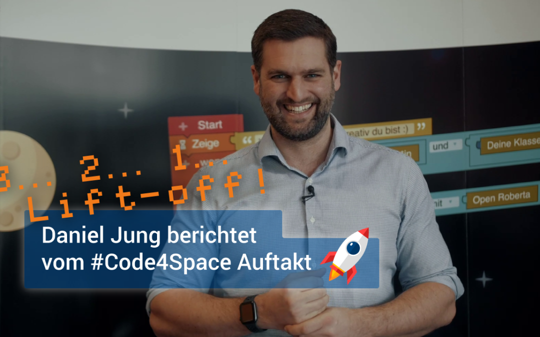 Roberta-Botschafter & Youtube-Mathe-Tutor Daniel Jung beim Code4Space-Launch in München